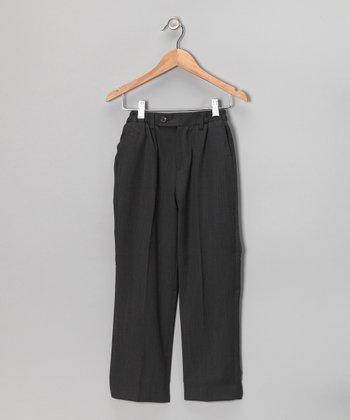 Charcoal Wool Pants - Boys