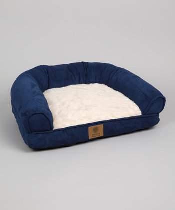 Navy Suede Pet Couch