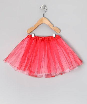 Valentine's Red & Light Pink Reversible Tutu