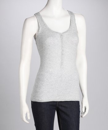 Heather Gray Henley Tank