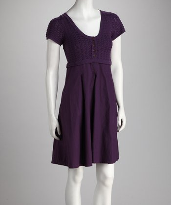 Purple Button Dress