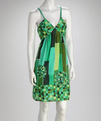 Green Beaded Dress - Women