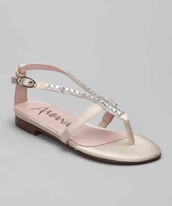 Amiana Champagne Rhinestone Sandal