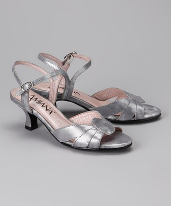 Amiana Pewter Metallic Sandal