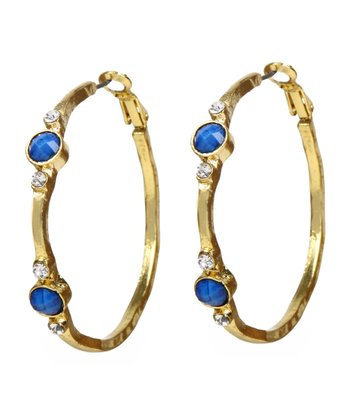 Lapis Benyamin Hoop Earrings