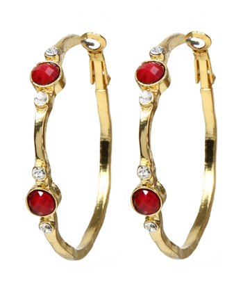 Ruby & Gold Benyamin Hoop Earrings