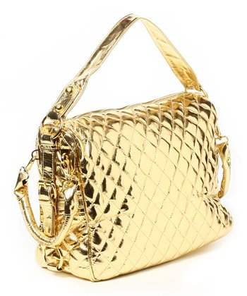Gold Metallic Mira Satchel