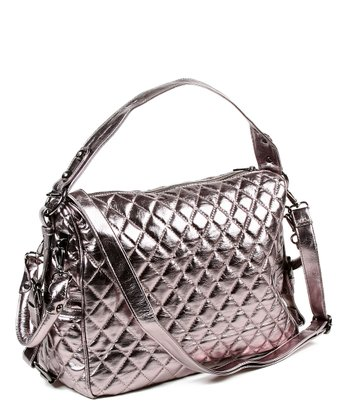 Gunmetal Metallic Mira Handbag