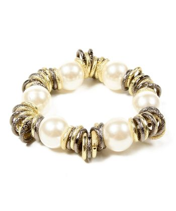 Natural Pearl Bergman Stretch Bracelet
