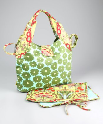 Green Poppies Tulip Organic Diaper Bag