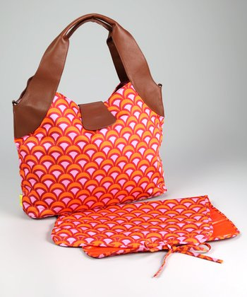 Tangerine Fountains Wildflower Organic Diaper Bag