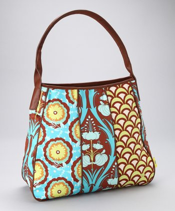 Turquoise Passion Lily Muriel Organic Shoulder Bag