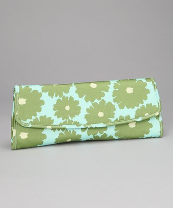 Green Poppy Flower Brenda Organic Clutch