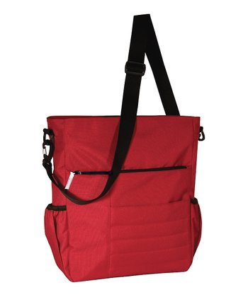 Red Madison Avenue Diaper Bag