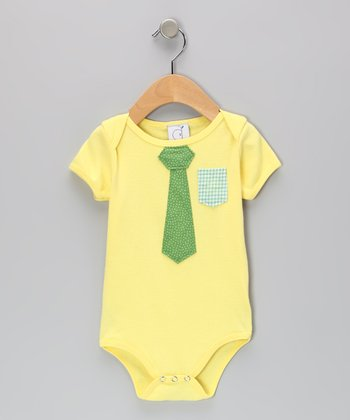 Ana Apple Yellow Business Time Bodysuit - Infant