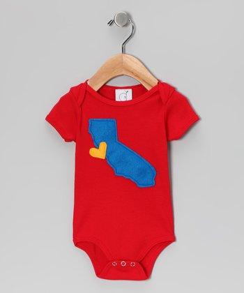 Red Cali Love Bodysuit - Infant