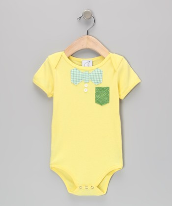 Ana Apple Yellow Nerd Alert Bodysuit - Infant