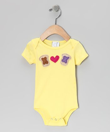 Yellow Peanut Butter Loves Jelly Bodysuit - Infant