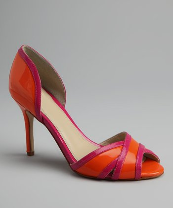 Orange Patent & Fuchsia Patent Bendetta Pump