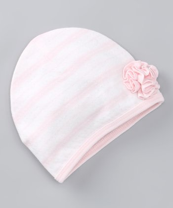 Pink Downtown Flower Beanie