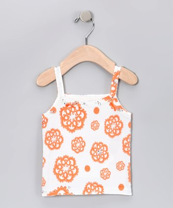 Orange Daisy Tank - Toddler
