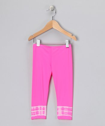Gum Ball Pink Just Because Leggings - Toddler & Girls