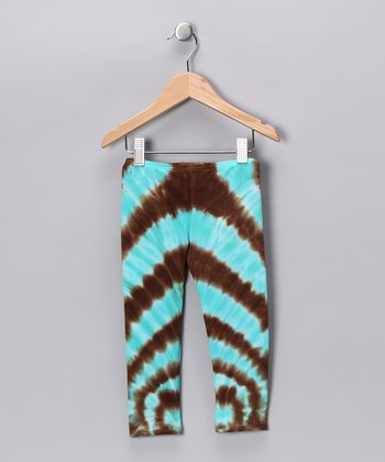 Blue & Brown Swirl Leggings - Toddler & Girls