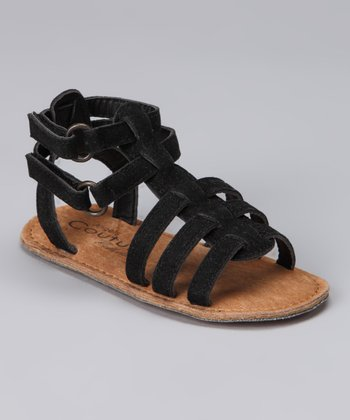 Angels Couture Black Strappy Sandal