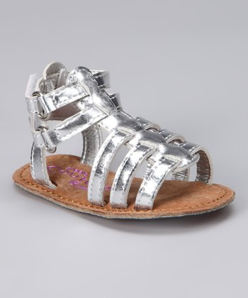 Angels Couture Silver Strappy Sandal