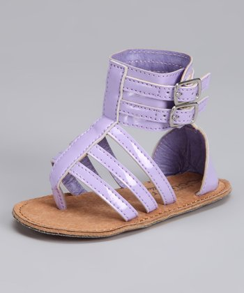 Purple Double-Buckle Gladiator Sandal