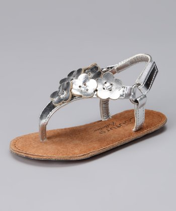 Angels Couture Silver Flower Sandal