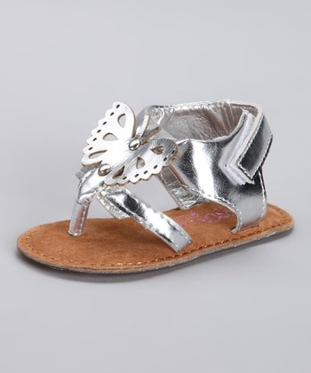 Angels Couture Silver Butterfly Sandal