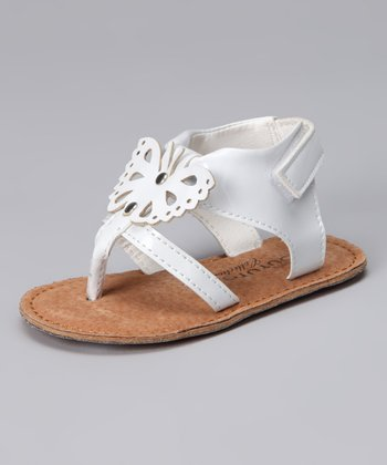 White Butterfly Sandal