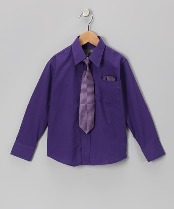 Eggplant Shirt Set - Infant, Toddler & Boys