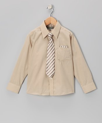 Beige Shirt Set - Infant, Toddler & Boys