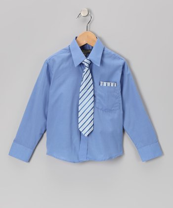 French Blue Shirt Set - Infant, Toddler & Boys
