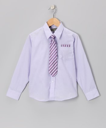 Lilac Shirt Set - Toddler & Boys