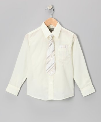 Ivory Shirt Set - Infant, Toddler & Boys