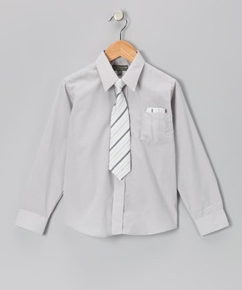 Light Gray Shirt Set - Infant, Toddler & Boys