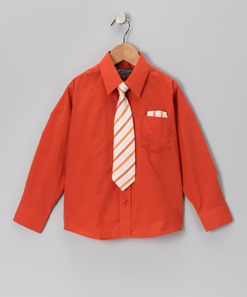 Rust Shirt Set - Infant, Toddler & Boys