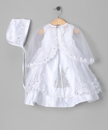 White Angel Baptism Dress Set - Infant