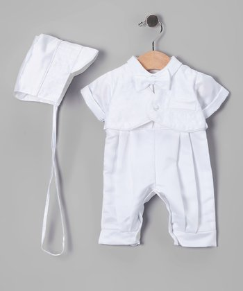 White Baptism Vest Set - Infant