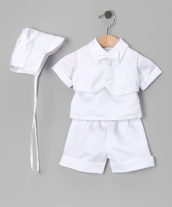 White Baptism Shirt Set - Infant