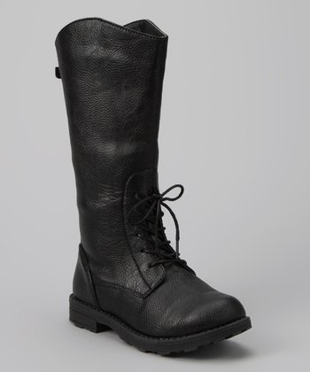 Black Faux Cowboy Boot