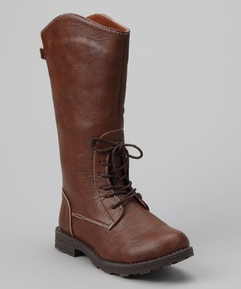Chestnut Faux Cowboy Boot