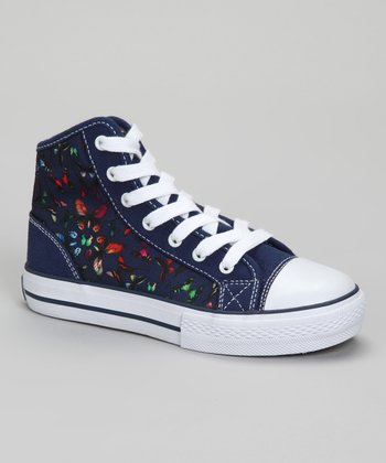 Navy Super Butterfly Hi-Top Sneaker