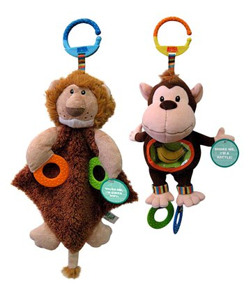 Lion & Monkey Teething Toys Set