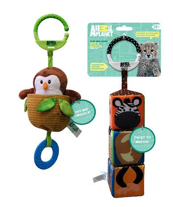 Owl & Mix 'n' Match Jungle Teething Toys Set