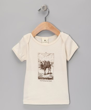 Beige Wild Bactrian Camel Organic Tee - Infant & Toddler