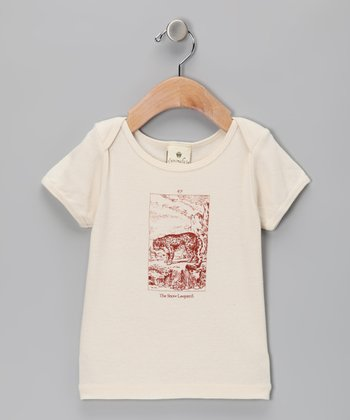 Beige Snow Leopard Organic Tee - Infant & Toddler